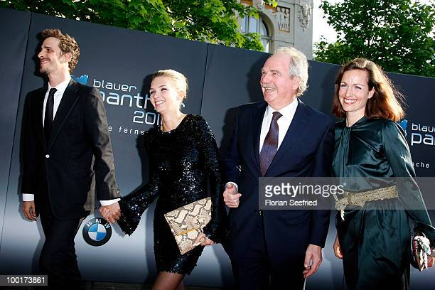 Actor Max von Thun Kim Eberle Friedrich von Thun and daughter Gioia von Thun attend the 'Bayerischer Fernsehpreis 2010' at the Prinzregententheater...