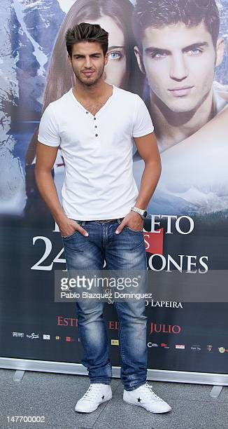 Actor Maxi Iglesias attends 'El Secreto de los 24 Escalones' photocall at Palafox Cinema on July 2 2012 in Madrid Spain
