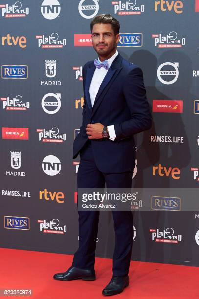 Actor Maxi Iglesias attends the Platino Awards 2017 photocall at the La Caja Magica on July 22 2017 in Madrid Spain