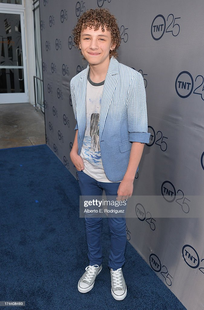 Actor Maxim Knight arrives to TNT's 25th Anniversary Party at The Beverly Hilton Hotel on July 24, 2013 in Beverly Hills, California.