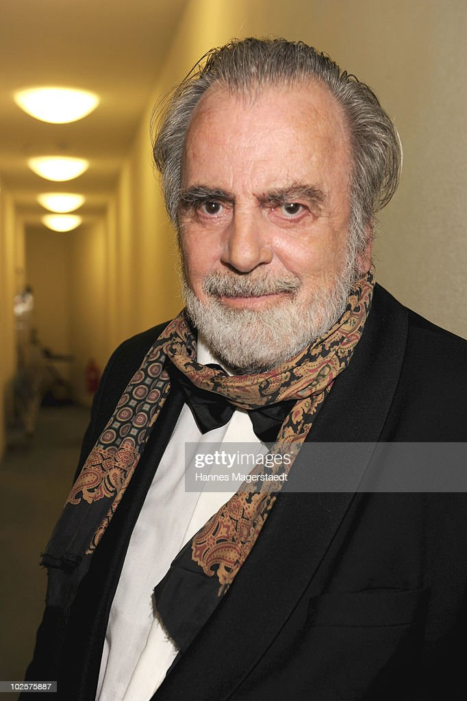 Actor <a gi-track='captionPersonalityLinkClicked' href=/galleries/search?phrase=Maximilian+Schell&family=editorial&specificpeople=236064 ng-click='$event.stopPropagation()'>Maximilian Schell</a> poses for a portrait during the Bernhard Wicki Award 'Die Bruecke - Der Friedenspreis des Deutschen Films 2010' at the Cuvilliés Theater on July 1, 2010 in Munich, Germany.