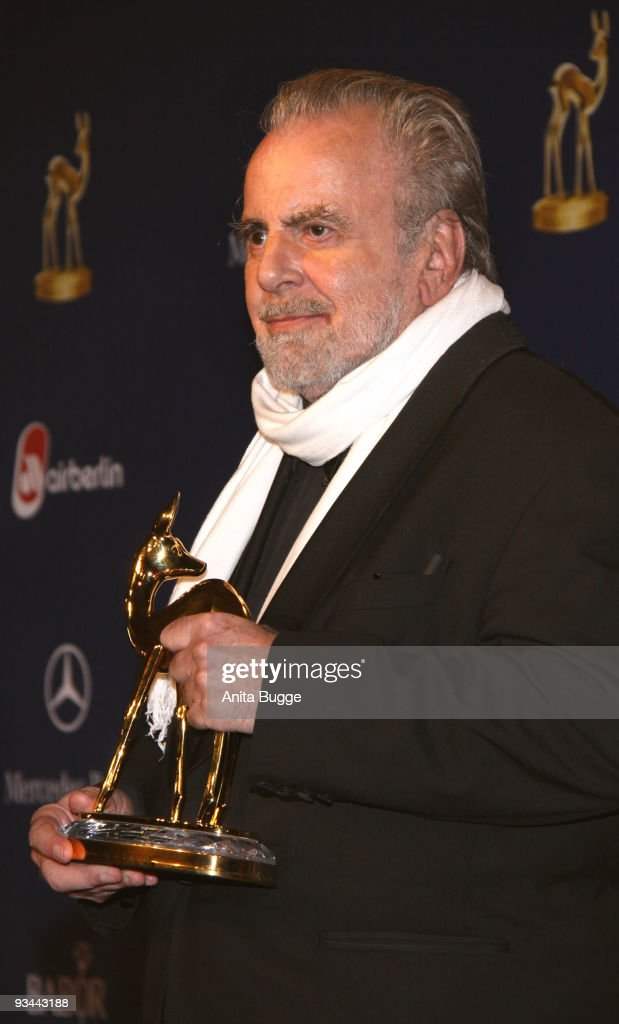 Actor <a gi-track='captionPersonalityLinkClicked' href=/galleries/search?phrase=Maximilian+Schell&family=editorial&specificpeople=236064 ng-click='$event.stopPropagation()'>Maximilian Schell</a> poses with the Bambi at the Bambi Awards 2009 at the Metropolis hall at Filmpark Babelsberg on November 26, 2009 in Potsdam, Germany.