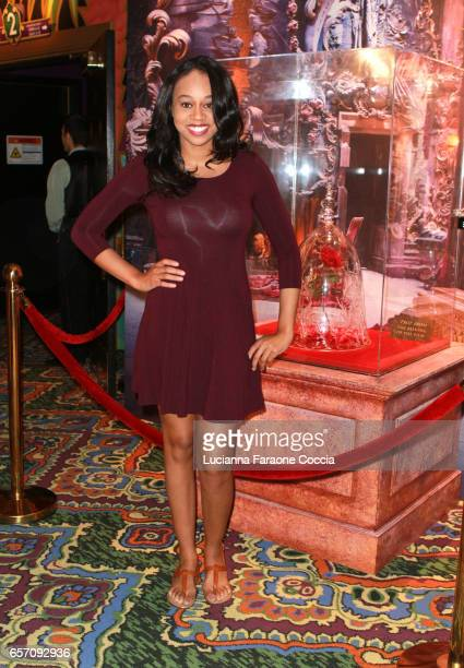 Actor Maya Jenkins attends Red Walk special screening of Disney's 'Beauty And The Beast' at El Capitan Theatre on March 23 2017 in Los Angeles...