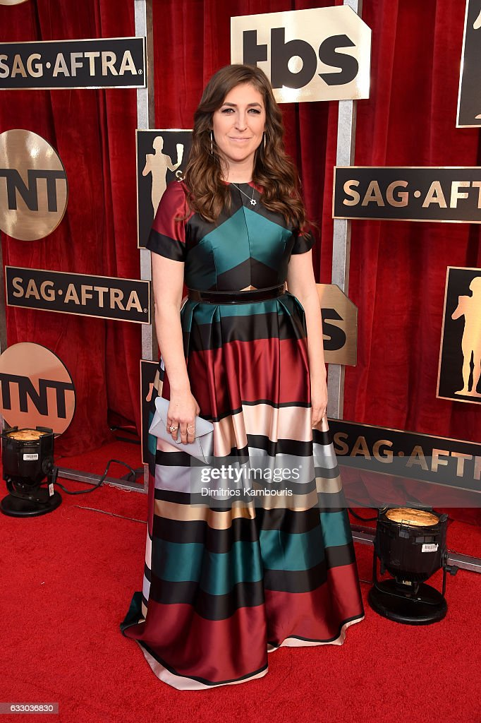 actor-mayim-bialik-attends-the-23rd-annual-screen-actors-guild-awards-picture-id633036830