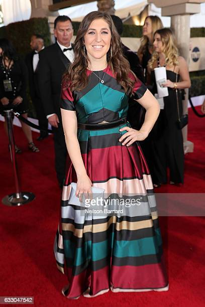 Actor Mayim Bialik attends the 23rd Annual Screen Actors Guild Awards at The Shrine Expo Hall on January 29 2017 in Los Angeles California