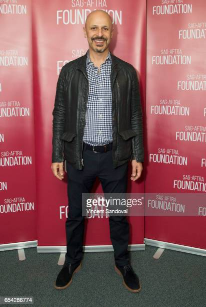 Actor Maz Jobrani attends SAGAFTRA Foundation's Conversations with 'Superior Donuts' at SAGAFTRA Foundation Screening Room on March 16 2017 in Los...