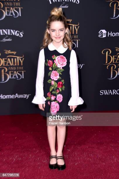 Actor Mckenna Grace attends Disney's 'Beauty and the Beast' premiere at El Capitan Theatre on March 2 2017 in Los Angeles California