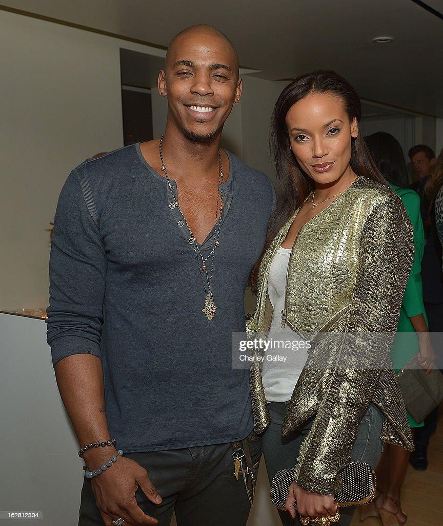 Actor Mechad Brooks and model <a gi-track='captionPersonalityLinkClicked' href=/galleries/search?phrase=Selita+Ebanks&family=editorial&specificpeople=619483 ng-click='$event.stopPropagation()'>Selita Ebanks</a> attend Rachel Roy Celebrates the New Host of 'Fashion Star' Louise Roe at Mondrian Los Angeles on February 27, 2013 in West Hollywood, California.