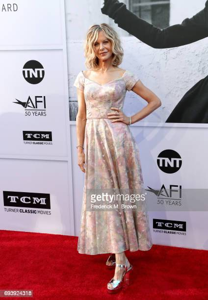 Actor Meg Ryan arrives at American Film Institute's 45th Life Achievement Award Gala Tribute to Diane Keaton at Dolby Theatre on June 8 2017 in...