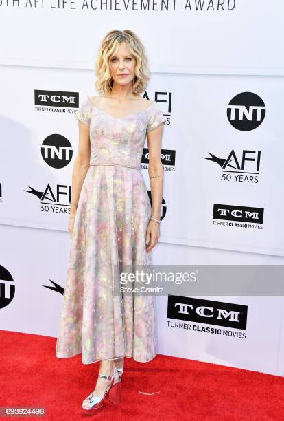 Actor Meg Ryan arrives at the AFI Life Achievement Award Gala Tribute to Diane Keaton at Dolby Theatre on June 8 2017 in Hollywood California