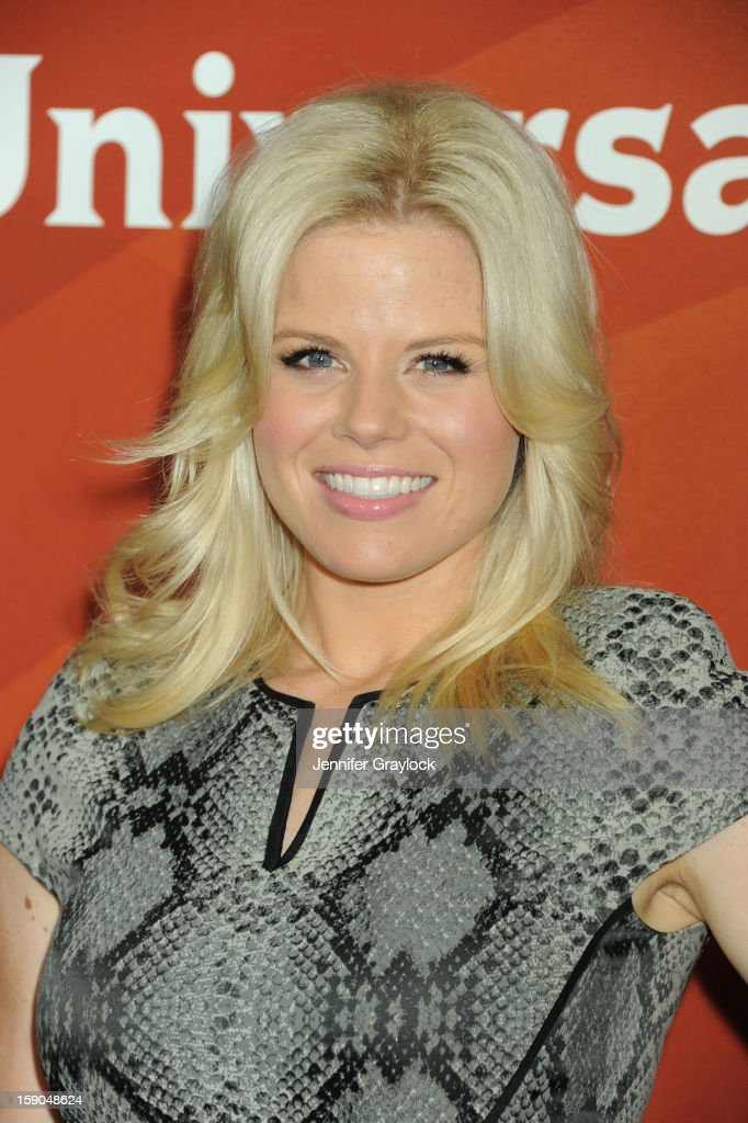 Actor Megan Hilty attends the NBC Winter TCA Press Tour held at the Langham Huntington Hotel and Spa on January 6, 2013 in Pasadena, California.