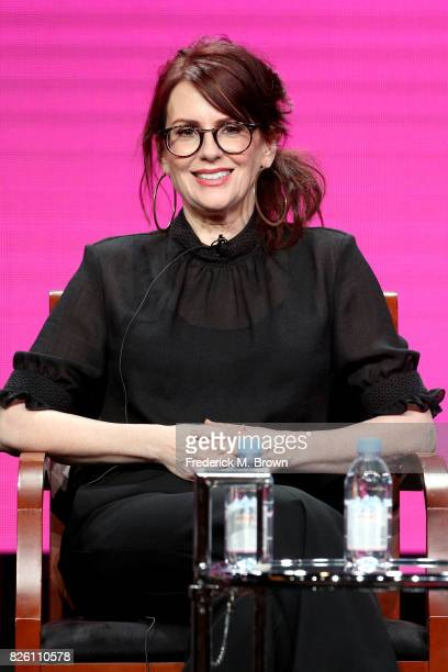 Actor Megan Mullally of 'Will Grace' speaks onstage during the NBCUniversal portion of the 2017 Summer Television Critics Association Press Tour at...