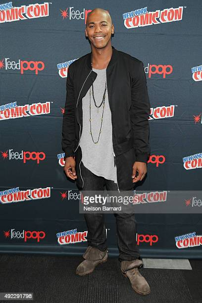 Actor Mehcad Brooks attends the 'Supergirl' press room during New York Comic Con 2015 at The Jacob K Javits Convention Center on October 11 2015 in...