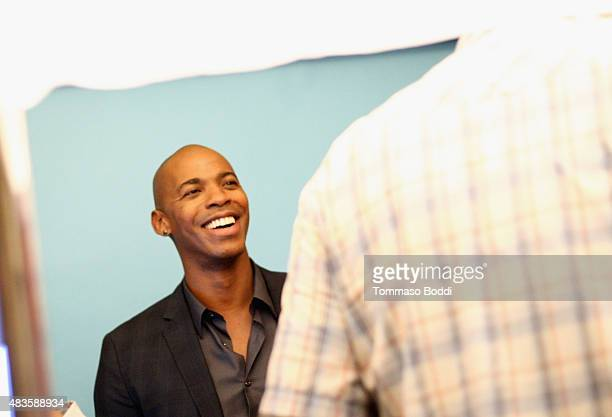 Actor Mehcad Brooks of CBS's 'Supergirl' attends Behind The Scenes Of The Getty Images Portrait Studio Powered By Samsung Galaxy At 2015 Summer TCA's...