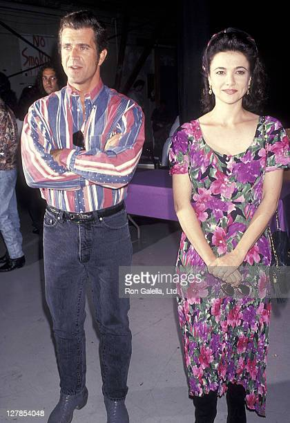 Actor Mel Gibson and actress Emma Samms attend The Starlight Children's Foundation of California Presents the First Annual Celebrate Starlight...