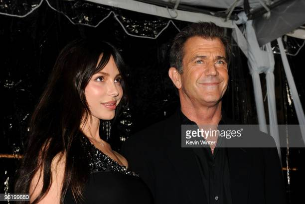 Actor Mel Gibson and Oksana Grigorieva arrive at the premiere Of Warner Bros 'The Edge Of Darkness' held at Grauman's Chinese Theatre on January 26...