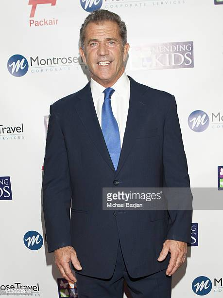 Actor Mel Gibson arrives at Mending Kids International Wings Around The World Gala at Santa Monica Airport on November 8 2014 in Santa Monica...