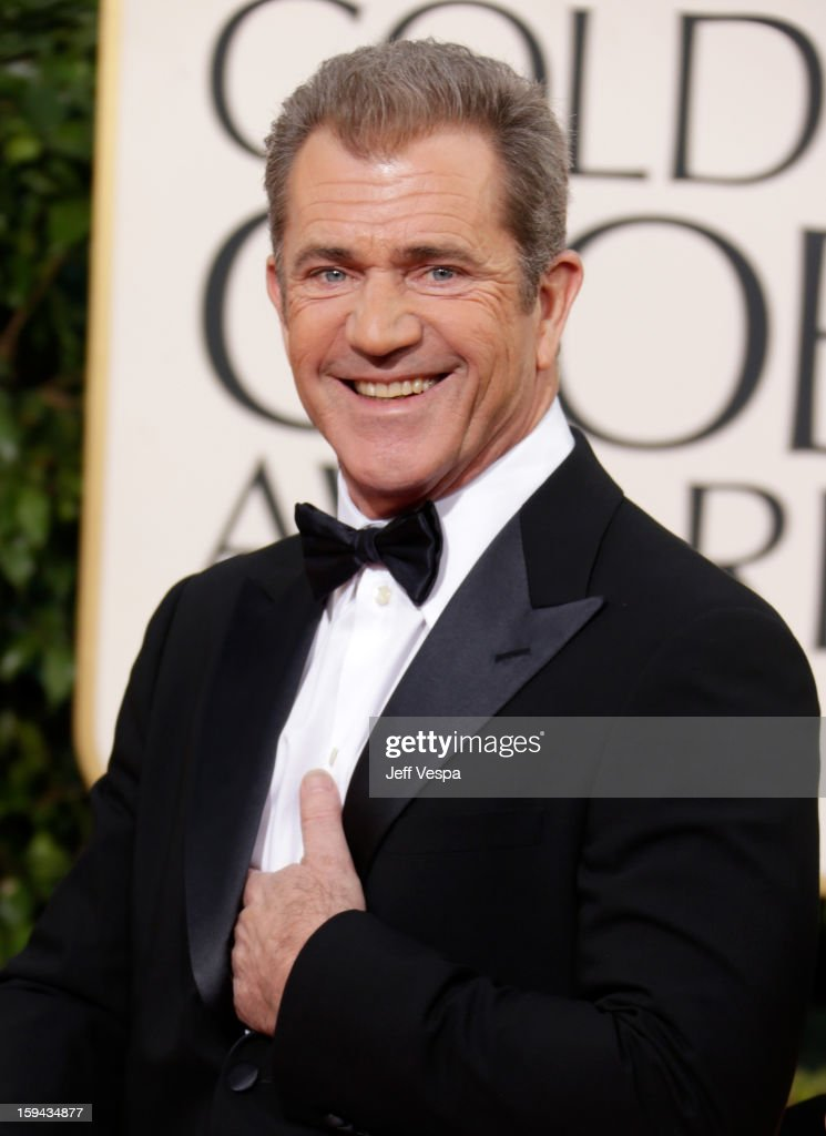 Actor Mel Gibson arrives at the 70th Annual Golden Globe Awards held at The Beverly Hilton Hotel on January 13 2013 in Beverly Hills California