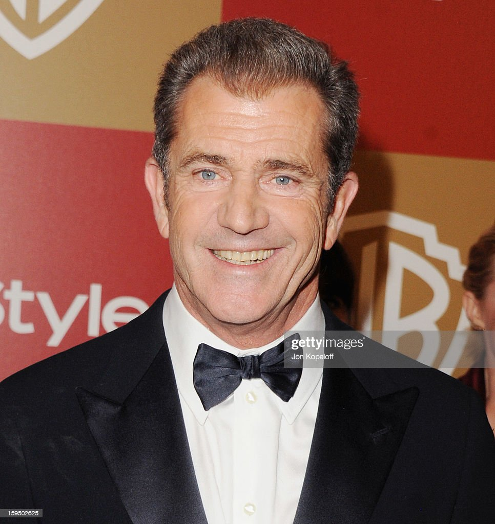 Actor Mel Gibson arrives at the InStyle And Warner Bros. Golden Globe Party at The Beverly Hilton Hotel on January 13, 2013 in Beverly Hills, California.