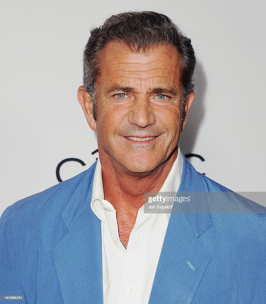 Actor <a gi-track='captionPersonalityLinkClicked' href=/galleries/search?phrase=Mel+Gibson&family=editorial&specificpeople=201512 ng-click='$event.stopPropagation()'>Mel Gibson</a> arrives at the Los Angeles Premiere 'Machete Kills' at Regal Cinemas L.A. Live on October 2, 2013 in Los Angeles, California.