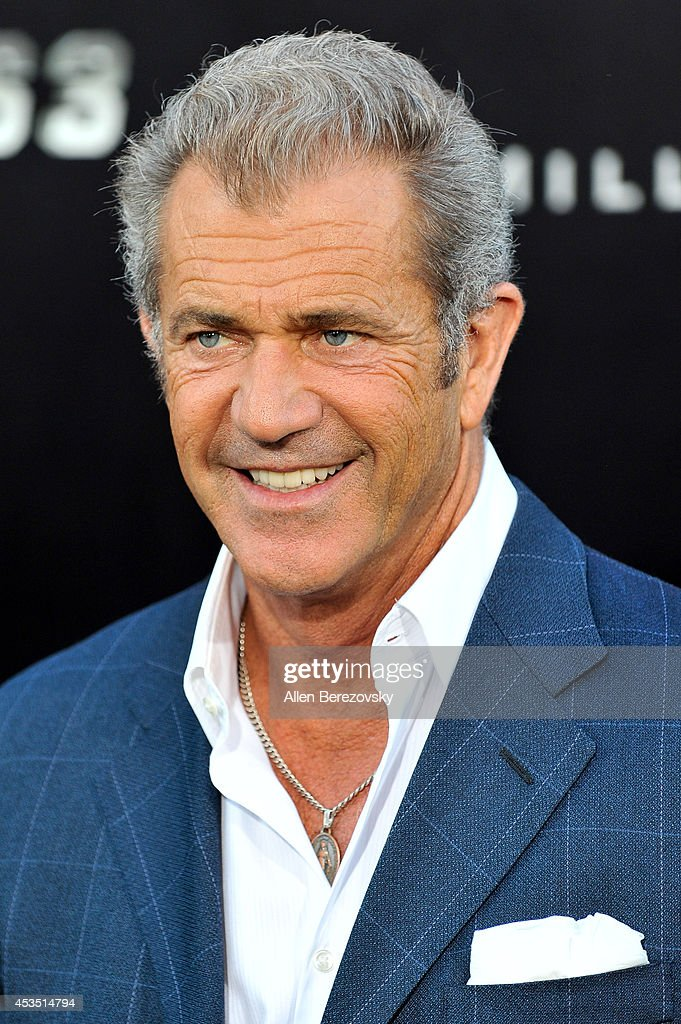 Actor Mel Gibson arrives at the Los Angeles premiere of Lionsgate Films' 'The Expendables 3' at TCL Chinese Theatre on August 11, 2014 in Hollywood, California.