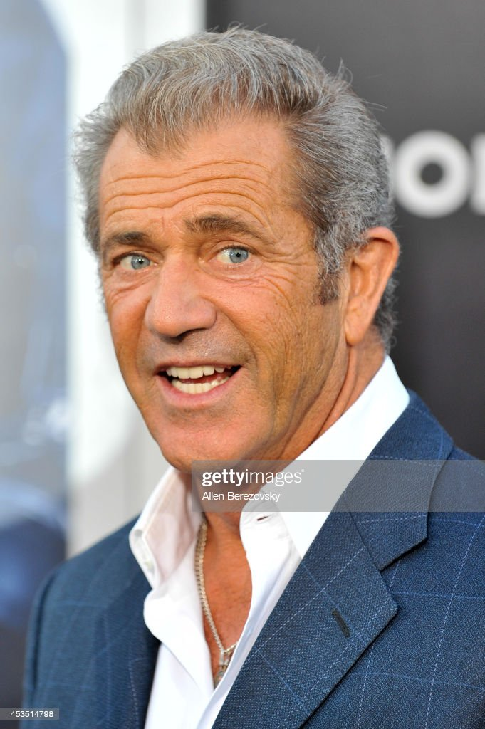 Actor <a gi-track='captionPersonalityLinkClicked' href=/galleries/search?phrase=Mel+Gibson&family=editorial&specificpeople=201512 ng-click='$event.stopPropagation()'>Mel Gibson</a> arrives at the Los Angeles premiere of Lionsgate Films' 'The Expendables 3' at TCL Chinese Theatre on August 11, 2014 in Hollywood, California.