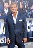 Actor Mel Gibson arrives at the Los Angeles premiere of 'The Expendables 3' at TCL Chinese Theatre on August 11 2014 in Hollywood California
