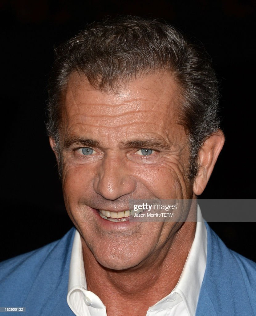 Actor <a gi-track='captionPersonalityLinkClicked' href=/galleries/search?phrase=Mel+Gibson&family=editorial&specificpeople=201512 ng-click='$event.stopPropagation()'>Mel Gibson</a> arrives at the premiere of Open Road Films' 'Machete Kills' at Regal Cinemas L.A. Live on October 2, 2013 in Los Angeles, California.