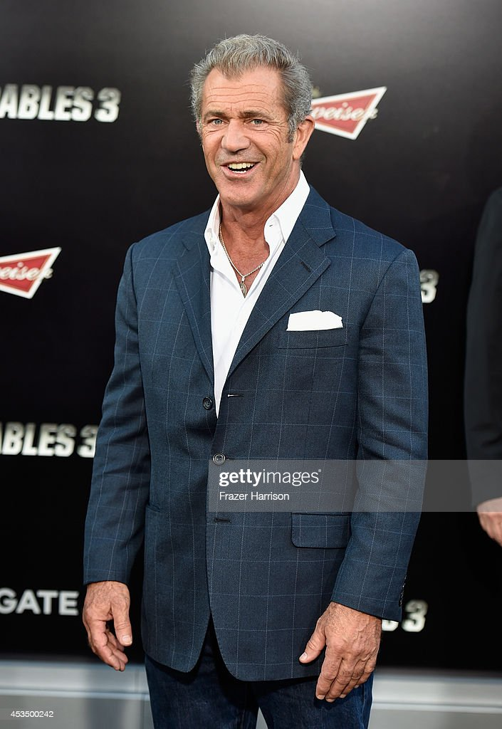 Actor Mel Gibson attends Lionsgate Films' 'The Expendables 3' premiere at TCL Chinese Theatre on August 11 2014 in Hollywood California