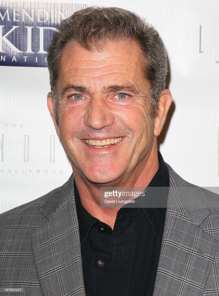 Actor <a gi-track='captionPersonalityLinkClicked' href=/galleries/search?phrase=Mel+Gibson&family=editorial&specificpeople=201512 ng-click='$event.stopPropagation()'>Mel Gibson</a> attends Mending Kids International's 'Four Kings & An Ace' Celebrity Poker Tournament at The London Hotel on December 1, 2012 in West Hollywood, California.