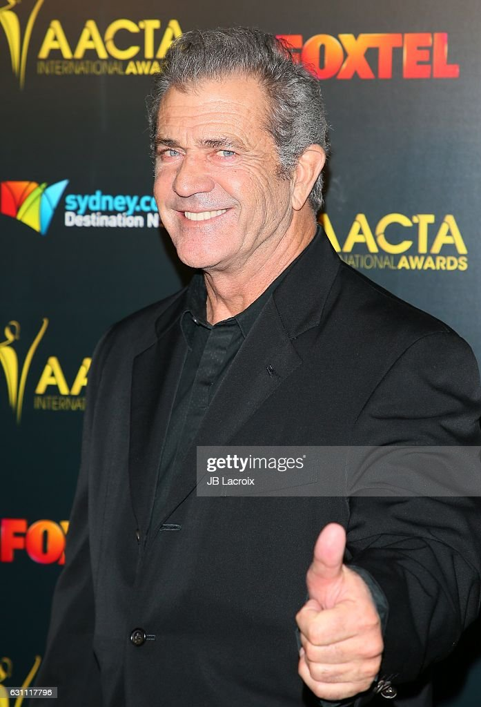Actor Mel Gibson attends the 6th AACTA International Awards on January 6, 2017 in Los Angeles, California.