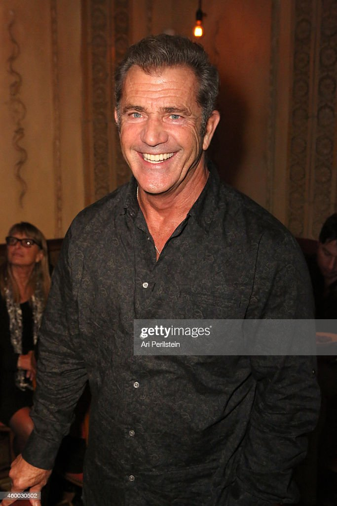 Actor <a gi-track='captionPersonalityLinkClicked' href=/galleries/search?phrase=Mel+Gibson&family=editorial&specificpeople=201512 ng-click='$event.stopPropagation()'>Mel Gibson</a> attends the CAKE party for Jennifer Aniston hosted by Perrier-Jouet And Cinelou Films at Chateau Marmont's Bar Marmont on December 5, 2014 in Hollywood, California.