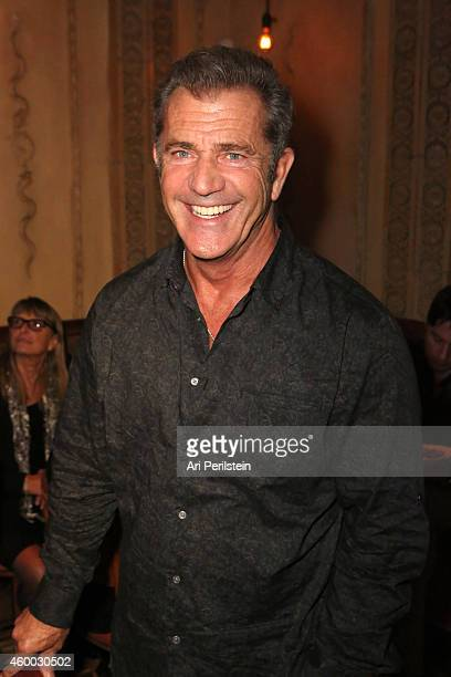 Actor Mel Gibson attends the CAKE party for Jennifer Aniston hosted by PerrierJouet And Cinelou Films at Chateau Marmont's Bar Marmont on December 5...