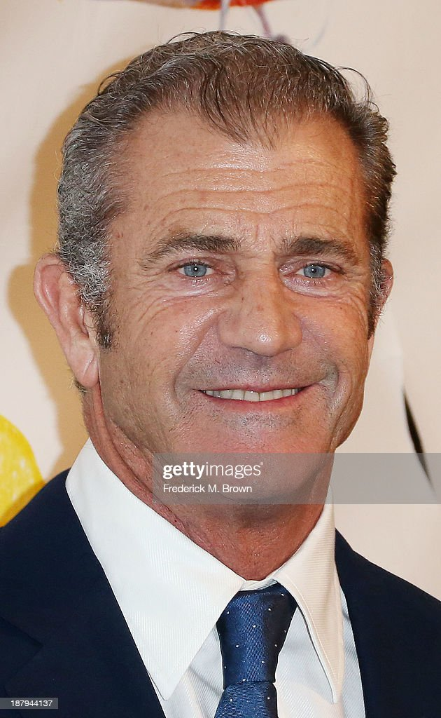 Actor Mel Gibson attends the 'Stand Up For Gus' Benefit at Bootsy Bellows on November 13, 2013 in West Hollywood, California.