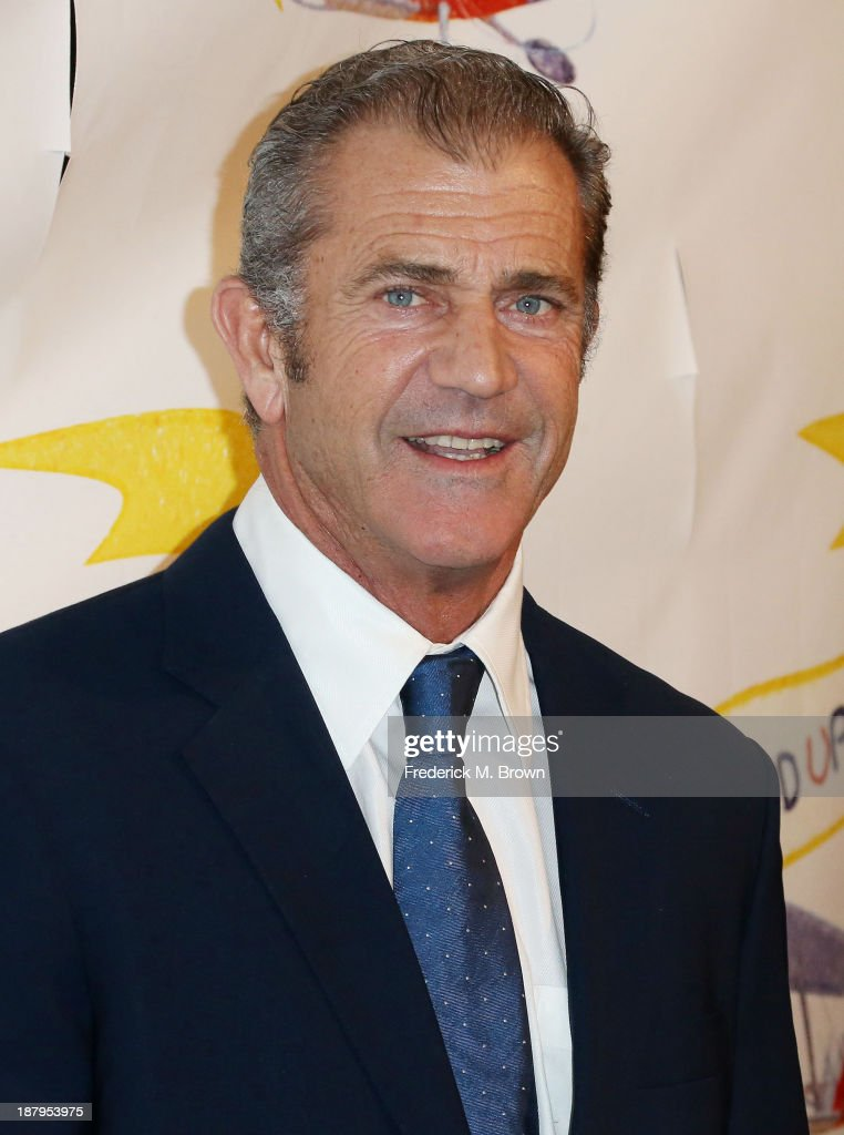Actor <a gi-track='captionPersonalityLinkClicked' href=/galleries/search?phrase=Mel+Gibson&family=editorial&specificpeople=201512 ng-click='$event.stopPropagation()'>Mel Gibson</a> attends the 'Stand Up For Gus' Benefit at Bootsy Bellows on November 13, 2013 in West Hollywood, California.