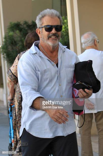Actor Mel Gibson is seen on September 28 2017 in Los Angeles California