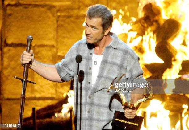 Actor Mel Gibson onstage at Spike TV's 2009 'Guys Choice Awards' held at the Sony Studios on May 30 2009 in Los Angeles California