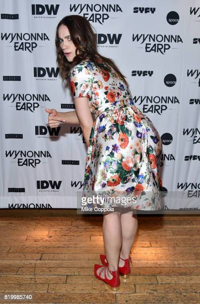 Actor Melanie Scrofano at the 'Wynonna Earp' Media Mixer with cast and Fan Appreciation Party during ComicCon International 2017 on July 20 2017 in...