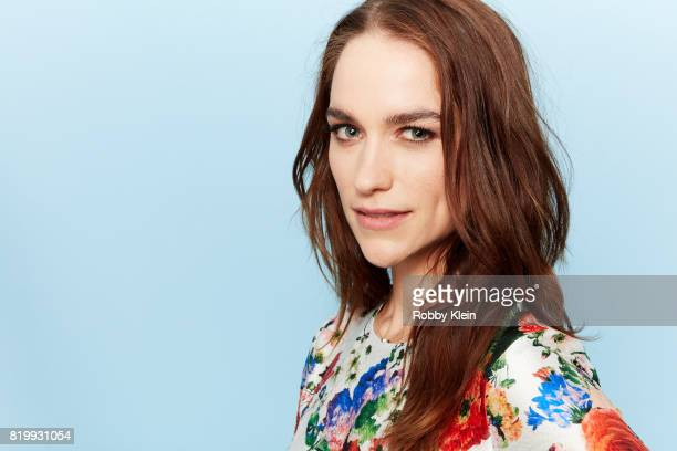 Actor Melanie Scrofano from Syfy's 'Wynonna Earp' poses for a portrait during ComicCon 2017 at Hard Rock Hotel San Diego on July 20 2017 in San Diego...