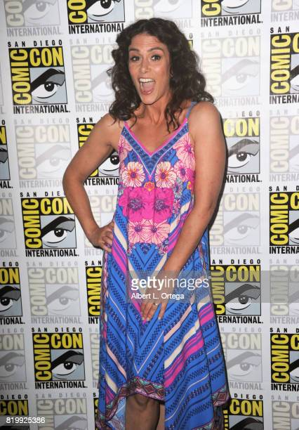 Actor Melissa Ponzio attends the 'Teen Wolf' panel during ComicCon International 2017 at San Diego Convention Center on July 20 2017 in San Diego...