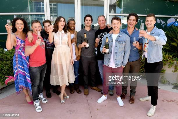 Actor Melissa Ponzio executive producer Jeff Davis actors Dylan Sprayberry Shelley Hennig Khylin Rhambo Dylan O'Brien Linden Ashby Cody Christian...