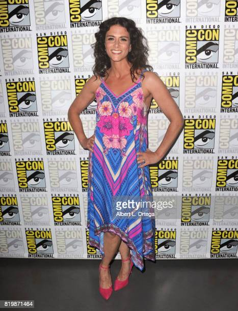 Actor Melissa Ponzio poses backstage during the 'Teen Wolf' panel during ComicCon International 2017 at San Diego Convention Center on July 20 2017...