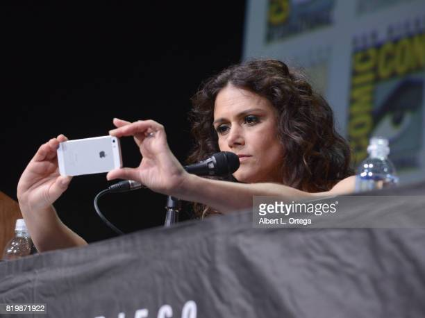 Actor Melissa Ponzio speaks onstage at the 'Teen Wolf' panel during ComicCon International 2017 at San Diego Convention Center on July 20 2017 in San...