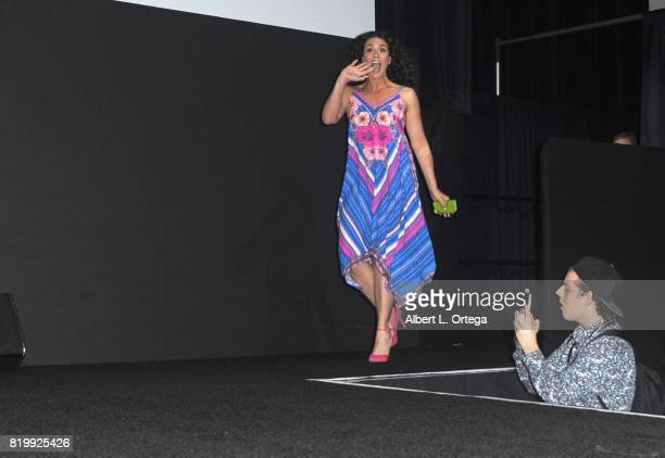 Actor Melissa Ponzio walks onstage at the 'Teen Wolf' panel during ComicCon International 2017 at San Diego Convention Center on July 20 2017 in San...
