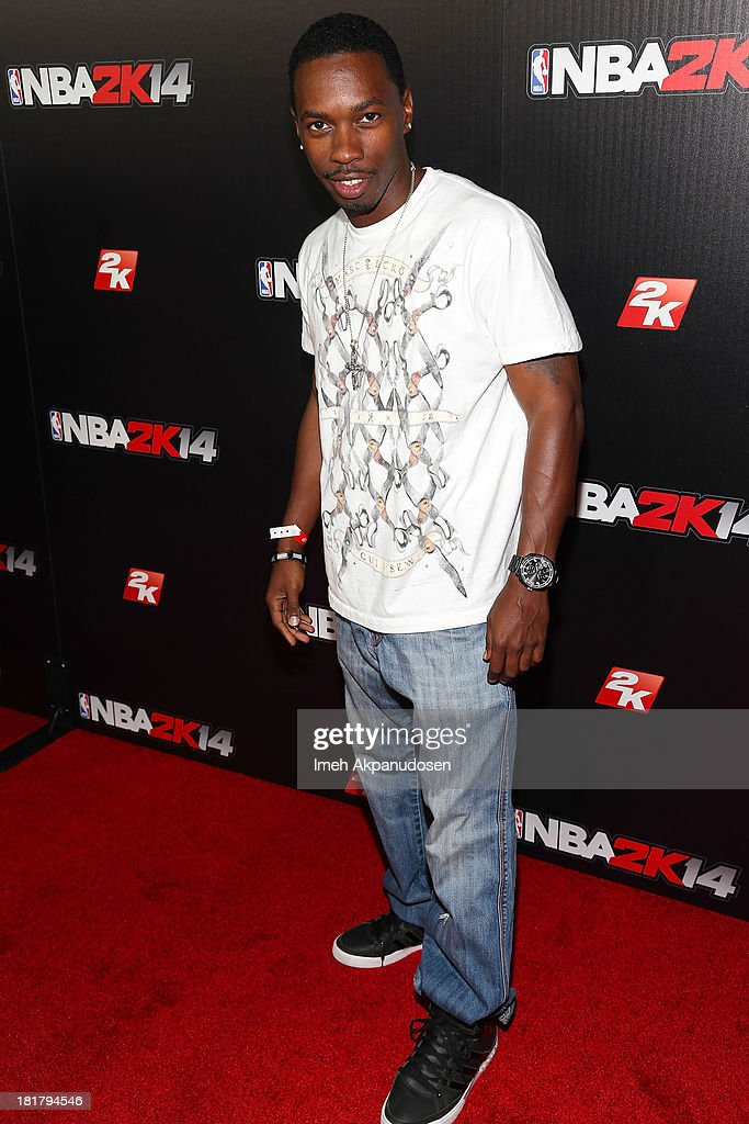 Actor Melvin Jackson Jr. attends the premiere party for the NBA2K14 video game at Greystone Mansion on September 24, 2013 in Beverly Hills, California.