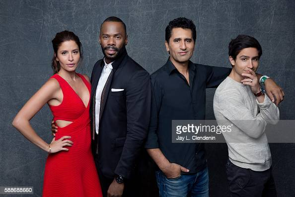 Actor Mercedes Masohn Colman Domingo Cliff Curtis and Lorenzo James Henrie of 'Fear the Walking Dead' are photographed for Los Angeles Times at San...