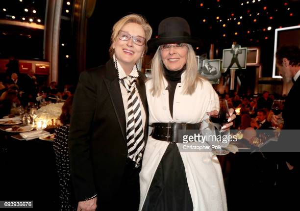 Actor Meryl Streep and honoree Diane Keaton onstage during American Film Institute's 45th Life Achievement Award Gala Tribute to Diane Keaton at...