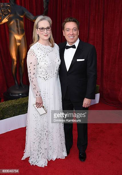 Actor Meryl Streep and Kevin Huvane of CAA attend The 23rd Annual Screen Actors Guild Awards at The Shrine Auditorium on January 29 2017 in Los...