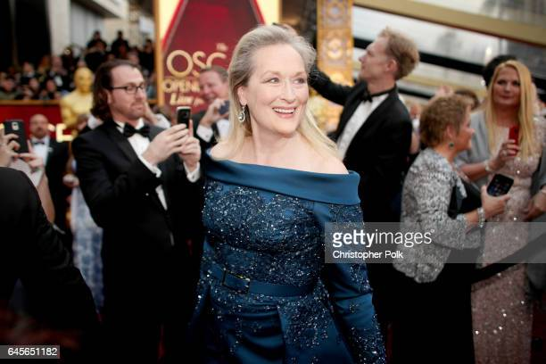 Actor Meryl Streep attends the 89th Annual Academy Awards at Hollywood Highland Center on February 26 2017 in Hollywood California