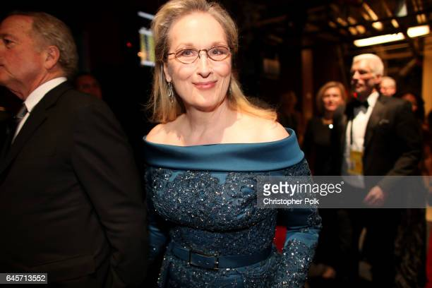 Actor Meryl Streep backstage during the 89th Annual Academy Awards at Hollywood Highland Center on February 26 2017 in Hollywood California
